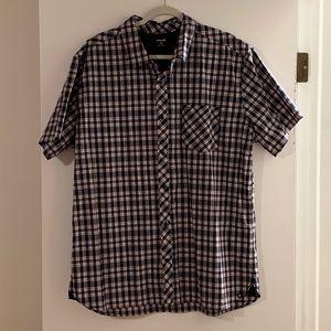 HURLEY Men's Short-sleeve Dress Shirt Button Down